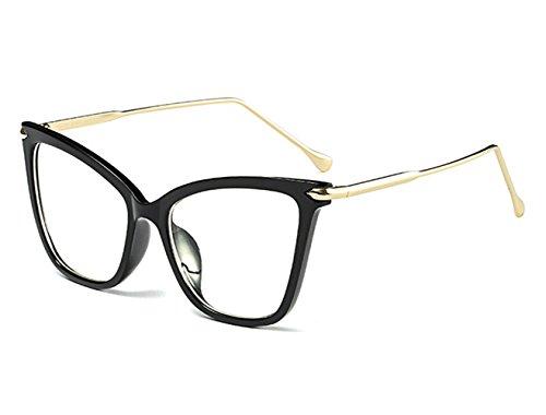 Damen Katzenaugen Sonnenbrille Lustig Kunststoff Cateye Vintage Groß Schutz Brillenträger Party Klassisch Retro