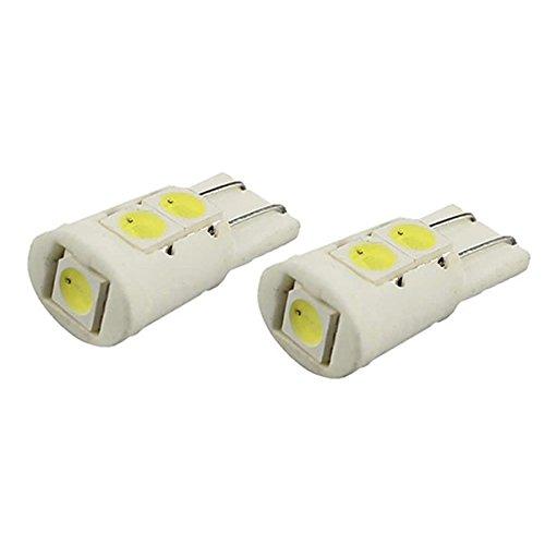 VORCOOL 2pcs T10 12V 6500K Céramique Voiture 5-LED Éclairage Plaque Porte Côté