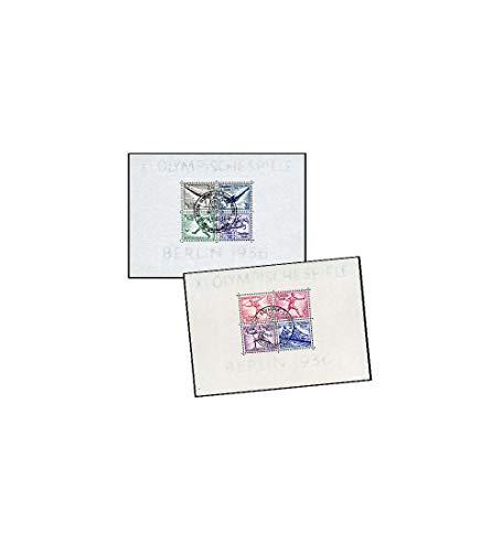 Goldhahn Briefmarken Deutsches Reich Block 5 und 6 gestempelt Olympische Spiele Berlin 1936