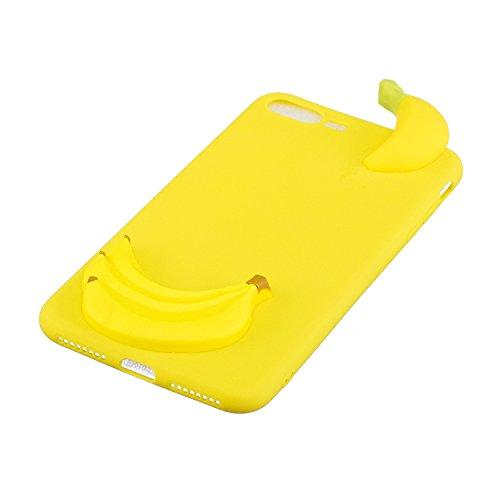 Cozy Hut Coque Housse Etui pour iphone 7/8 Plus, iphone 7/8 Plus Coque en Silicone, iphone 7/8 Plus Silicone Coque Housse Blanc Transparent Etui Gel Slim Case Soft Gel Cover, Etui de Protection Cas en Banane