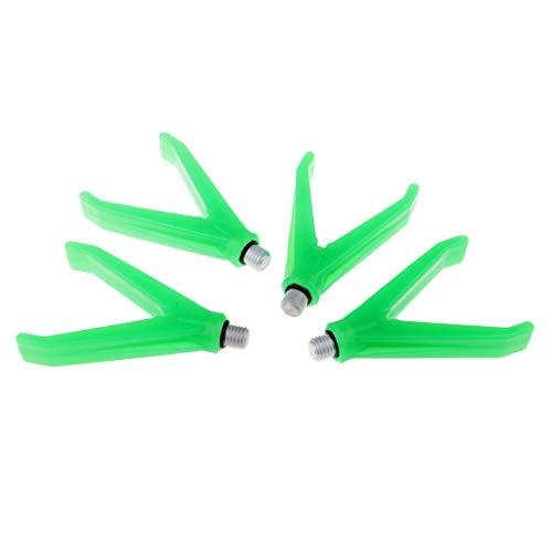 B Blesiya 4X Angelrute Rest Kopf aus Alu Angeln Ruten Halter 1,8 Zoll Ständer - Ruten Zubehör Grün -