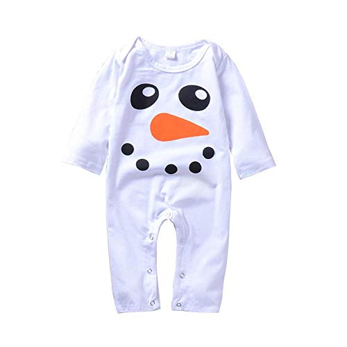PLOT❤Boys Girls Long Sleeves Snowman Newborn Baby Clothes Romper Jumpsuit 0-2T