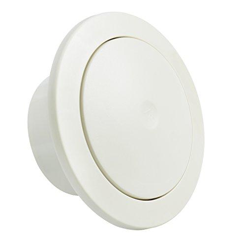 Hon&Guan ABS Ventilazione di Griglia Rotonda Regolabile - Maglia Filtro Incorporata e Silenziatore in Cotone (ø100mm)