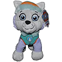 PAW Patrol - Peluche Everest, color blanco, 27 cm (Play by Play)