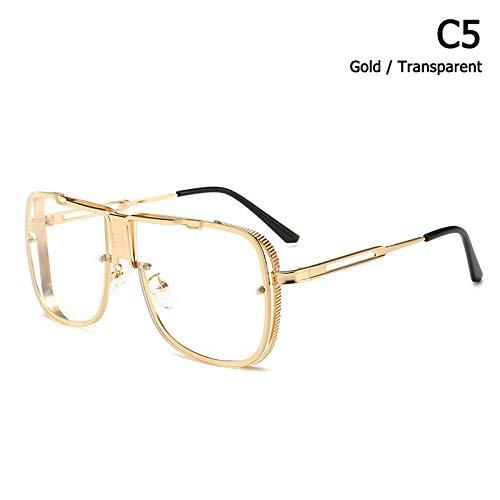 ZHOUYF Sonnenbrille Fahrerbrille Mode Coole Einzigartige Platz Luftfahrt Stil Cascais Sonnenbrille Männer Marke Design Sonnenbrille Oculos De Sol Masculino, E