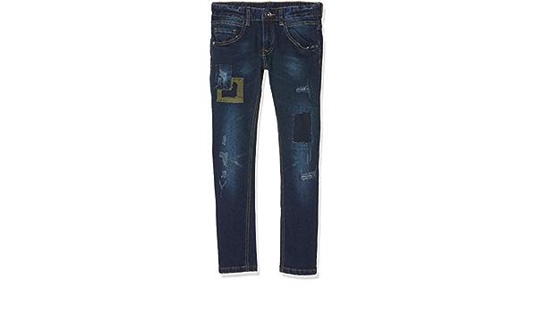 MEK Boys Pantalone Denim Elasticizzato Con Toppe Jeans