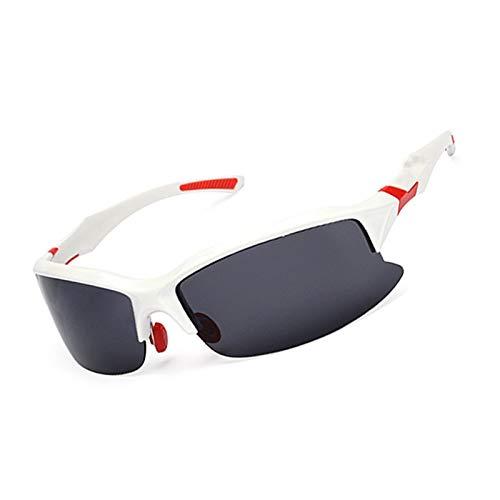 Beydodo Schutzbrille für Brillenträger Glänz Weiß Rot Sportbrille Polarisiert Sonnenbrille Schutzbrillen zum Schutz der Augen