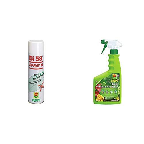 Bi 58 Spray, Bekämpfung von Schädlingen an Zierpflanzen, Anwendungsfertig, 400 ml & COMPO Duaxo Universal Pilz-frei AF, Bekämpfung von Pilzkrankheiten an Zierpflanzen, Gemüse und Kräutern, 750 ml