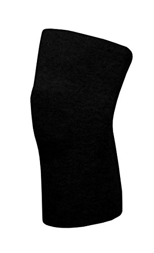 Angora Kniewärmer von wobera, schwere Ausführung 50% Angora (X-Large, schwarz)
