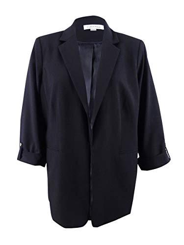Calvin Klein Women's Plus Size Roll-Tab Blazer - Calvin Klein Sport Mantel