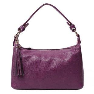 Chlln Die Neuen Sommer - Leder - Tasche Schulter Diagonal Paket Hand Kopf Schicht Leder Casual - Mode Violet