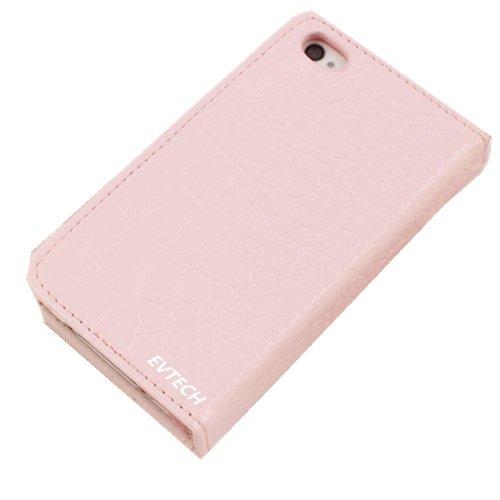 EVTECH (TM)-Flip portefeuille Coque 3D Bling Strass Case Transparent Back Cover Cristal Etui Housse Hard Coque pour Apple iPhone 5C 2013 Smartphone (AT & T, T-Mobile, Sprint, Verizon)