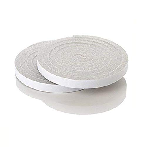 Betan 2x Schaumstoff Tape, Rollen Poly Schaumstoff, Selbstklebend, 63x 25m Klebeband Maximale Kompression, Anthrazit Wetter Tape 1,5x 1cm von 6,5Feet entfernen, Grau -
