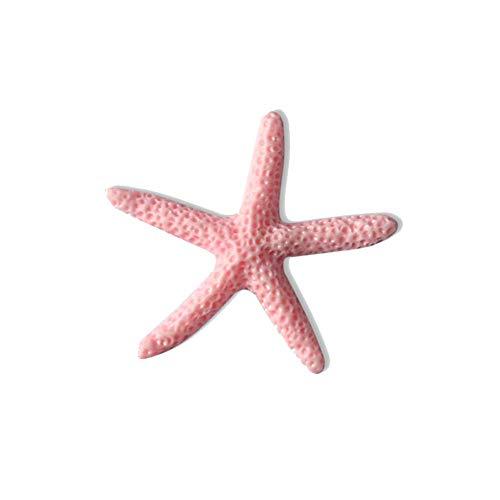 (Fish tank stone Harz-Simulation Starfish Mediterranean Star kleine Seesterne Aquarium Landschaft Fotografie,Pink)