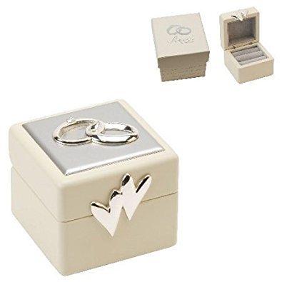 Amore Wedding Ring Box mit Icons & Kristalle (Kristall-ring-box)