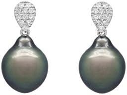 Bijoux pour tous - Pendientes de oro blanco con perla (.11)