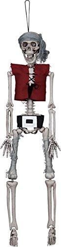 Décoration à suspendre squelette pirate 40 cm - taille - Taille Unique - 223461