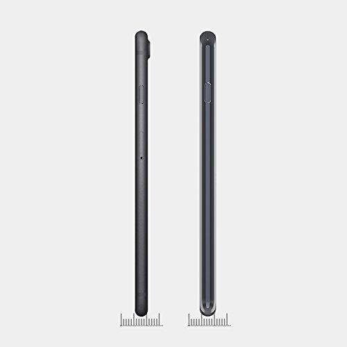 [Lot de 2 ]Coque Apple iPhone 7 Transparent (Design Fin), OMOTON Protection iPhone 7 Coque TPU Silicone Housse Etui Anti Chocs Case Rose D'or Black