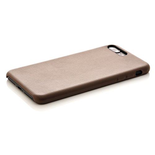 iProtect Kunstleder Schutzhülle Apple iPhone 7 Plus, iPhone 8 Plus flexibles Case in Dunkelblau Braun