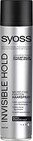 Syoss Invisible Hold Micro-Fine Haarspray, extra starker Halt, 6er Pack (6 x 400 ml)