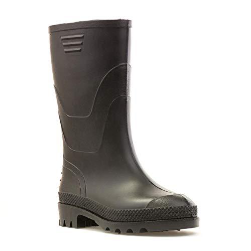 Zone - Kids Black Wellington Boots