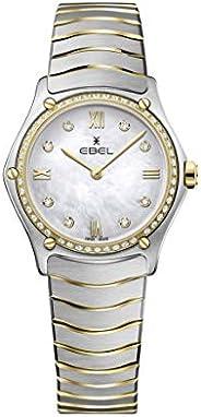 ساعة يد كلاسيكية رياضية 18 كلفن، من الستيل بحركة كوارتز سويسرية للنساء من ايبيل 1216390A