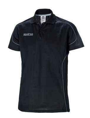 Sparco-s011886nr0-x-s-polo-a-manches-courtes-noir-taille-XS