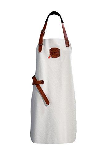 Xapron Lederschürze Hermes Bianco Länge 74 cm