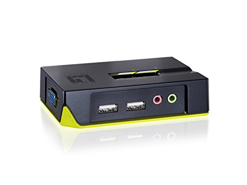 Level One KVM-0221 2-Port USB KVM-Switch mit Audio