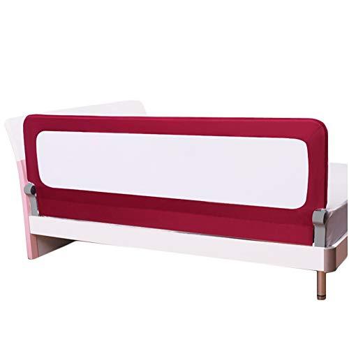 LIQICAI-Bettgitter Für Kleinkinder Kids Bettwächter Schlaf-Sicherheits-Schutzgeländer Hör Auf Zu Fallen, 4 Größen (Farbe : Rot, größe : 1.8m)