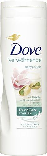 Dove Verwöhnende Body Lotion mit Pistazie & Magnolienduft, 3er Pack (3x 400 ml)