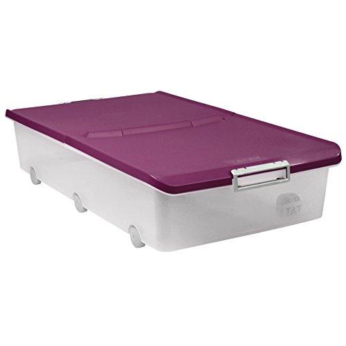 TATAY 1151120 - Caja bajo cama con ruedas, 63 l