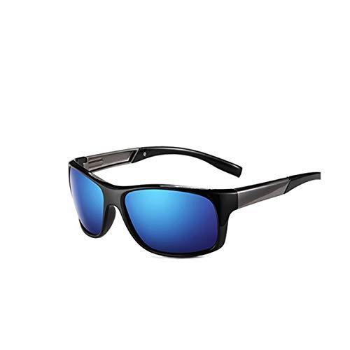 DYFDHA Sonnenbrillen Brand Classic Polarized Sunglasses Men Driving Glasses Coating Black Fishing Driving Eyewear Male Sun Glasses PL328 C01 Blue
