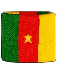 Digni® Poignet éponge avec drapeau Cameroun - Pack de 2 pièces