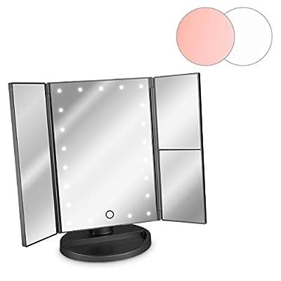 Navaris Espejo cosmético LED