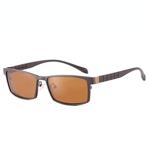 JXFS Klassische Sonnenbrillen Flache LightAnti Blue Light Blocking-Brillen Männer und Frauen geben Rahmenbrillen ab-Coffee