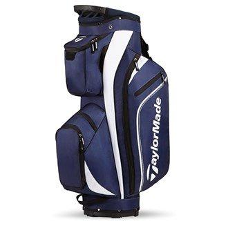 TaylorMade 2016 Pro Cart 4.0 Cart Bag Mens Golf Trolley Bag 14-Way Divider Navy/Blanc