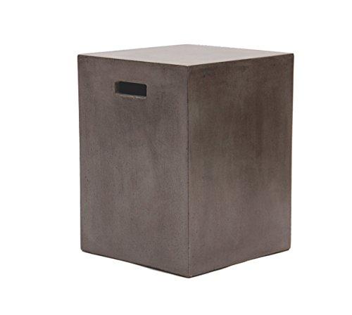 Betonmöbel Beistelltisch Betonhocker 35 x 35 x 46 cm mit Griffmulden für Innen und Draussen grau