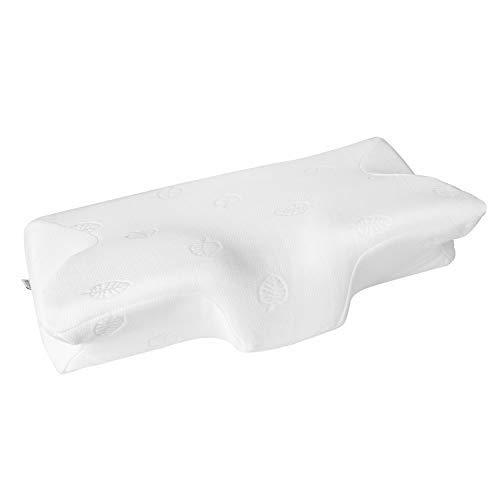 MARNUR Cervical Kissen Contour Memory Foam Orthopädische Kissen für Nacken-Schlafsack für Seitenschläferkissen Rücken Sleeper Bauch Sleeper (23,5× 14,5× 14cm) + Kissenbezüge (Memory-foam-kingsize-kissen)