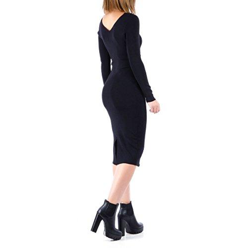La Modeuse - Robe moulante Noir