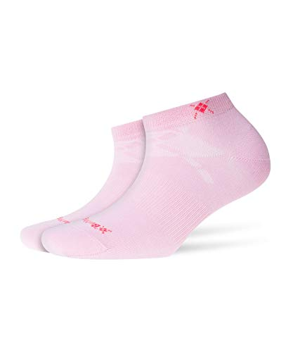 Burlington Damen Everyday Füßlinge Einfarbig Baumwolle 2 Paar sportliche Sneakersocken, Blickdicht, Pink (Marshmellow 8448), 36/41 (2erPack)