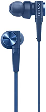 Sony MDR-XB55 Extra-Bass in-Ear Headphones Without Mic (Blue)