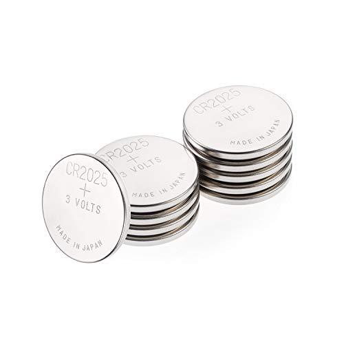 GP CR2025 Lithium Knopfzellen 3V, 10 Stück Knopfbatterien CR 2025 Spannung 3 Volt für verschiedenste Geräte- und Verbraucheranwendungen, (10-er Pack, Batterien einzeln entnehmbar) - Lithium-batterie 2025 3v