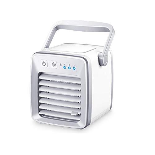 Vovotrade Mini draagbare Mobile airconditioner -ventilator, Mini Air Cooler USB airco 3 in 1 raumluftkühler, luftbefeuchter en Luchtreiniger draagbare tischventilator voor kantoor (Weiß, L148xW161xH151mm)