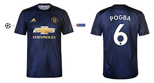 Manchester United 2018-2019 Third UCL Pogba 6 - Camiseta para Hombre, XX-Large