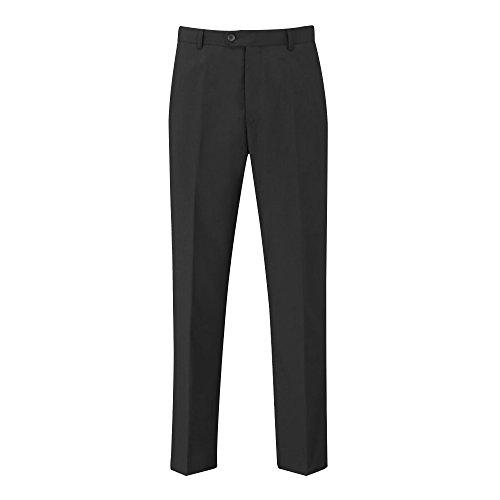Skopes Herren Darwin formelle Arbeit/Anzughosen mit flacher Front (36/L) (Schwarz)