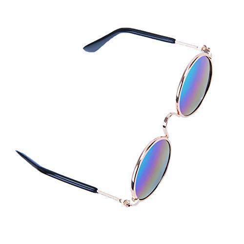 Rodite Haustier Brille Wasserdicht Winddicht Augenschutz Metallrahmen Haustiere Sonnenbrille Hund Brillen für Katzen kleine Hunde