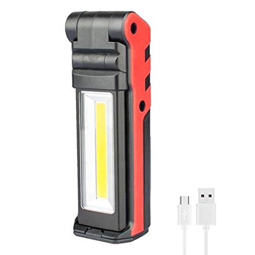 Fafalloagrron Super Bright COB LED-Arbeitsleuchte mit magnetischem Sockel und Haken, wiederaufladbar, dimmbar - Laternen Freien Im Hängenden