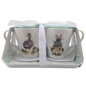 Royal Worcester Wrendale Designs Tasse et Tray Set