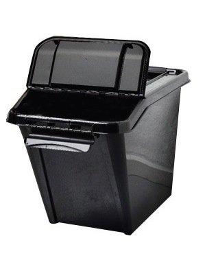 Preisvergleich Produktbild Aufbewahrungsbox, Sortierbox aus Kunststoff in dunklem Anthrazit. Mit ca. 58 Liter Volumen. Stapelbar. Maße BxTxH in cm ca.: 39,6 x 64,7 x 43,8 cm